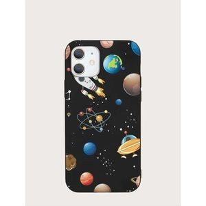 Planets & Rocket Pattern iPhone 12 Pro Max Case 🚀
